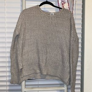 Grey Sweater by Essentials by Full Tilt